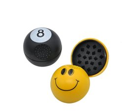 magnet smiles UK - Plastic smile with magnet manual tobacco grinding device of plastic smoking tobacco grinder