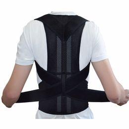 Discount magnetic posture support corrector back belt - Men Magnetic Posture Corrector Orthopedic Back Support Belt Correct Posture Brace Correcteur de