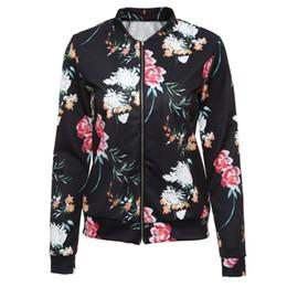 d996af3a6b Chaqueta étnica vintage online-Estilo étnico Floral Bomber Jacket Impreso  Mujeres Abrigos Básicos Otoño Señoras