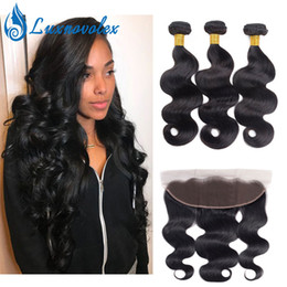 $enCountryForm.capitalKeyWord NZ - Lace Frontal With Bundles 8A Brazilian Body Wave Human Hair Bundles With 13X4 Lace Frontal Closure Peruvian Virgin Hair Bundles Wholesale