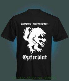 Хорошее качество Марка хлопчатобумажная рубашка летний стиль прохладный рубашки сатанинские Warmaster-Opferblut футболка новый! на Распродаже