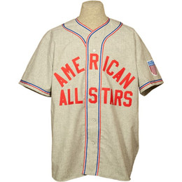 China American All-Stars 1945 Road Jersey 100% Stitched Embroidery Logos Vintage Baseball Jerseys Custom Any Name Any Number Free Shipping cheap embroidery baseball jerseys suppliers