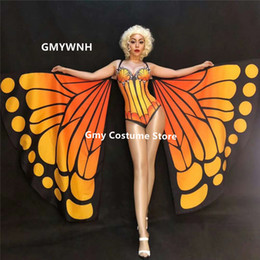 $enCountryForm.capitalKeyWord Australia - R45 Satge wears butterfly wings bellydance ballroom dance costumes dress cloak pole dancer bodysuit dj outfits clothes jumpsuit