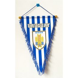 $enCountryForm.capitalKeyWord UK - Uruguay National Football Three Corner Handing 2018 Russia Football World Cup 36cm*23cm Size Decoration flag banner for home & garden