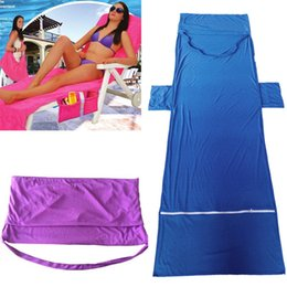 plain beds 2019 - Lounger Mate Beach Towel Microfiber Bed Holiday Garden Towel 73*210CM Sunbath Portable Garden Chair Cover Towel Beach LC