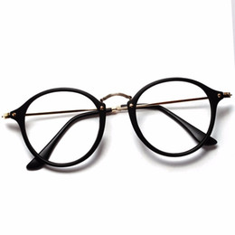 Wholesale Women Men Vintage Round Eyewear Frames Retro Optical Glasses Frame Eyeglasses Goggle Oculos free shipping on Sale