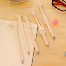 Selling Stationery School Australia - (1pcs Hot Sell) 0.7mm Cute Kawaii Simulation of Bone Ball Ballpoint Pens Ballpen For Office School Writing Supplies Stationery