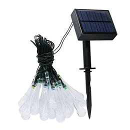 $enCountryForm.capitalKeyWord NZ - 8 Modes Multi-color Water Drop LED Solar Powered & USB Rechargeable String Light Outdoor Fairy Lamp Waterproof Outdoor Decoration