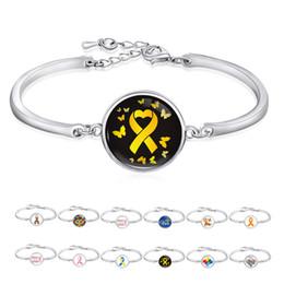 Alerte médicale Ouvrir le bracelet La leucémie TDAH MS Syndrome d'allaitement Autisme Syndrome d'allaitement maternel Bracelets en ruban de sensibilisation au cancer chez l'enfant en Solde