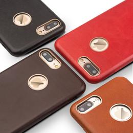 Design Genuine Leather NZ - Qialino Ultra Slim High Quality Case For Iphone 7 Plus Design Flip Phone Cover For Iphone 7 Plus Real Genuine Leather