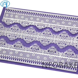 silicone cake fondant lace mold NZ - Flower Pattern Silicone Mat Fondant Cake Lace Embossed Cake Mold Sugar Lace Mat Cake Decorating Tool Embossing Mat