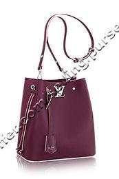 $enCountryForm.capitalKeyWord Australia - Lockme Bucket M54680 Prune Rose Poudre Women Handbags Shoulder Messenger Totes Iconic Cross Body Bags Top Handles Clutches Evening