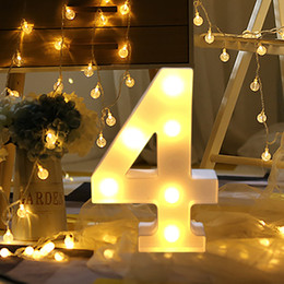 WindoW Wall decor online shopping - Fashion New Alphabet Number Digital Letter Led Light White Light Up Decoration Symbol Indoor Wall Decor Wedding Party Window Display Light