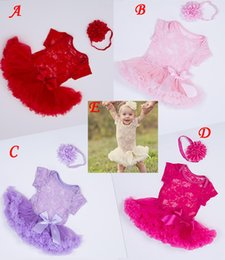 China INS Summer Toddler Kids Baby Girls Full Lace Dress tutus & flower headband Short Sleeves 2pcs lace Outfits S M L for kids 0-4T suppliers