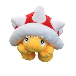 "Stuffed Plush Turtle UK - Free Shipping Spiny Koopa Turtle 3.5"" Super Mario Bros Plush Doll Stuffed Toy PXCB"