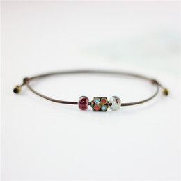Chinese  National Wind Restoring Ancient Ways Is The High Temperature Glaze Ceramic Handmade Trinkets Women's Fashion Bracelets #1737 manufacturers