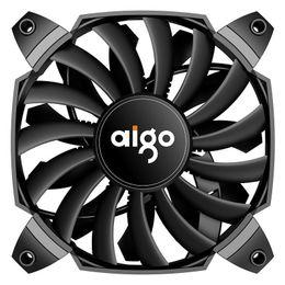 12 Cm Fan Australia - Double blade turbocharged large air volume computer case mute fan 12 cm