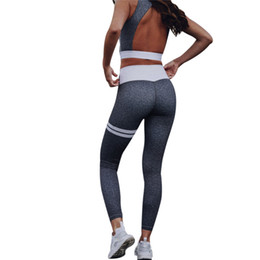 d45e85dbab Women Suit Sleeveless Top Gray Tracksuits Set Hip Fitness Suits Sexy Women  Costume Sets 2 -Pieces (Tops +Pants ) Female