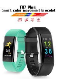 screen for android 2019 - Bluetooth Smart Band F07 Plus OLED Screen Fitness Tracker Bracelet IP68 Waterproof Swimming Heart Rate Blood Pressure Pa