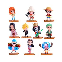 Discount one piece nami figures - 10 pieces lot One Piece Action Figurines Toys 10 designs Luffy Zoro Nami PVC Cartoon Action Figures Model Toys Kids Gift