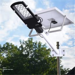 Discount outdoor light control - 12 24LED Waterproof Solar Powered Wireless light Sensor remote control Light Outdoor Garden Landscape Yard Lawn Wall Lam