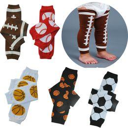 Soccer Legs Canada - Baby Football Basketball Baseball Soccer Leg Warmers infant girl boy legchildren socks Legging Tights Leg Warmers 24 pairs lot can mix color