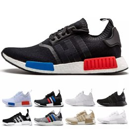 Discount nmd r1 triple black - (with box)Sneakers NMD R1 Sport Shoes Runner R1 Primeknit Best Quality New Men And Women Running Shoes Triple White Blac
