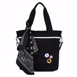 Scarf Shops Australia - Fashion Women Tote Bags New Scarf Large Capacity Canvas Bag Leisure Travel Shopping Shoulder Messenger Handbags