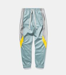 46b3772a2439 Track Pants Mens 2018 Fashion Urban Jumpsuit Joggers Trousers Male Hip Hop  Stripe Sweatpants High Quality Color Block Patchwork