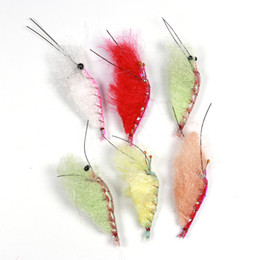 Mix Artificial Bait Australia - bait Wifreo 6PCS Artificial Fly Saltwater Shrimp Bait   Lure for Trout Perch Fly Fishing Mix Color