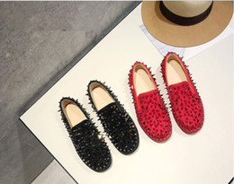 Designer Luxury Women Mens Black Red Sneakers flat bottom sole Casual shoes with sharp Studded Spikes flats 34-44 With Box outlet store online discount classic clearance affordable shopping online free shipping UCSTNuC4Zu