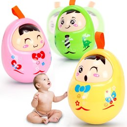 Smart Baby Nodding Matlyoshka Tumbler Doll Chicks Baby Mobiles Bell Baby Toys Sweet Bell Music Roly-poly Learning Education Toys Gifts Baby Rattles & Mobiles