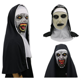 Full Face Costume Mask Australia - 2018 Halloween The Nun Horror Mask Cosplay Valak Scary Latex Masks Full Face Helmet Demon Halloween Party Costume Props Free Shipping