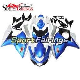 $enCountryForm.capitalKeyWord Australia - ABS Injection Fairing For Suzuki GSXR1000 K9 2009 - 2016 ABS Injection Motorcycle Fairings High Quality Covers Blue White Silver