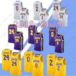 1c53ff452 2019 nerw 23 LeBron James jerseys 24 Kobe Bryant 0 Kyle Kuzma 2 Lonzo Ball jersey  men Top quality