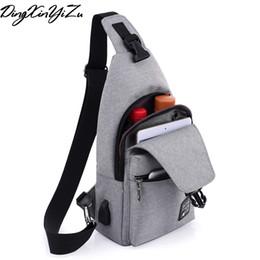 Single Shoulder Strap Packs Australia - New Arrival Oxford Men Chest Pack Single Shoulder Strap USB Charging Bag Crossbody Bags for Women Sling Shoulder Bag