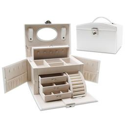 Beauty Bedding UK - Ms. Large Capacity Cosmetics Storage Box Travel Portable Storage Box Cosmetic Tools Beauty Nail Fashion Makeup Organizer Case