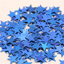 silver wedding confetti NZ - Hot !50000PCS Bag 10mm Five-Pointed Star Scatters Confetti Gold Silver 10MM Star Paper Scrap Wedding Party Table Decoration