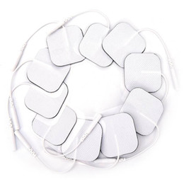 Replacement Electrodes NZ - Sale 1000 Pcs Pack Non-Woven Electrode Pads 50mm*50mm 2.0mm Pin Tens Units for Low Frequency Digital Massagers Replacement For Whole Body