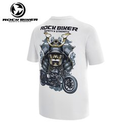Wholesale bikers t shirts online – design ROCK BIKER Summer Men s fashion casual Sports T shirt Motorcycle Riding Wear Knight Shirt Racing Speed Tshirt