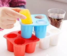 $enCountryForm.capitalKeyWord NZ - 4-Cup Ice Cube Shot Shape Silicone Shooters Glass Freeze Molds Maker Tray Party Bar Tools Ice Shot Glass Mold wn445 50pc