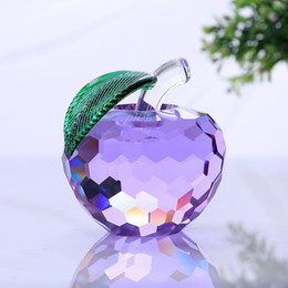 $enCountryForm.capitalKeyWord NZ - 40mm purple crystal apple paperweight glass paperweight pretty gifts crafts art&collection christmas home wedding gifts decor
