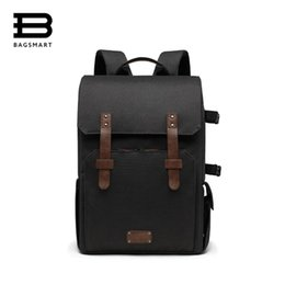 "Discount rain covers for dslr cameras - BAGSMART Multifunctional Camera Backpack for SLR DSLR Cameras 15.6"" Laptop Camera Bag with Waterproof Rain cover Tr"