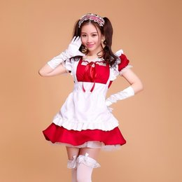216f0e0d6 lolita french satin adult pink sissy maid long cosplay Fancy Dress Uniform  japanese anime kids sexy maid costumes women costume Y18110504