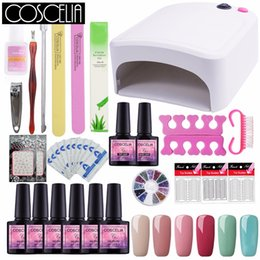PurPle gel nail Polish online shopping - COSCELIA Set For Manicure All For Nail Art Sets Tools Manicure Set pc UV Gel Nail Polish Kit With Lamp W UV Lamp