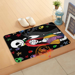 floor mats designs NZ - New Design Custom The Nightmare Before Christmas Doormat Bath Mats Foot Pad Home Decor Bathroom Mats Door Mat Floor Mat A320#50