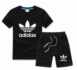 Wholesale SALE New Style Children s Clothing For Boys And Girls Sports Suit Baby Infant Short Sleeve Clothes Kids Set Age HOT