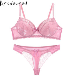 e10bf898f4a4 Sexy Full Lace Bra set Floral Princess Underwear Bra Sets Push Up and Thong  Set For Women