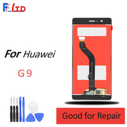 touch screen panel price Australia - OEM for Huawei G9 LCD Display and Touch Digitizer Screen Replacement Wholesale Price 100% Tested Free Shipping