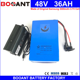 Motor Bicycles Australia - BOOANT 48V 36AH E-Bike Li-ion Battery Pack Made of Original Samsung 18650 for Bafang 1800W Motor 48V Electric Bicycle Battery